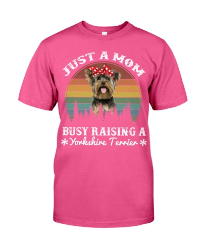 Yorkshire Terrier Mom Busy Raising