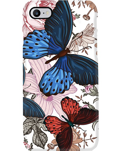 SHN Vintage color flower Butterfly phone case