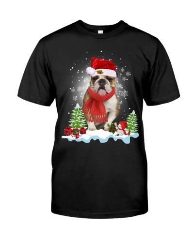Bulldog santa clause