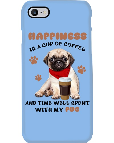 Coffee and time well spent with Pug shirt