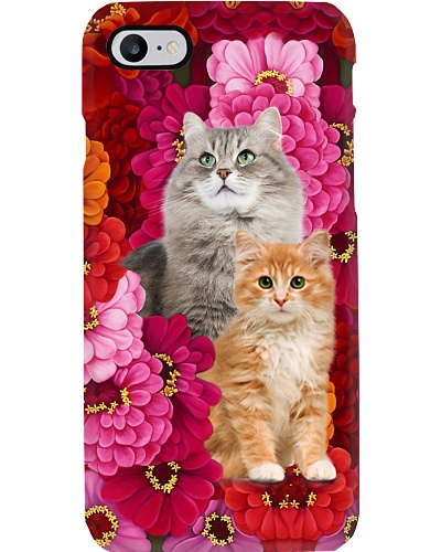 Cat pastel flower color cute funny gift pce