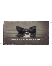Th 5 Border Collie Best Dog Dad Ever Cloth face mask front