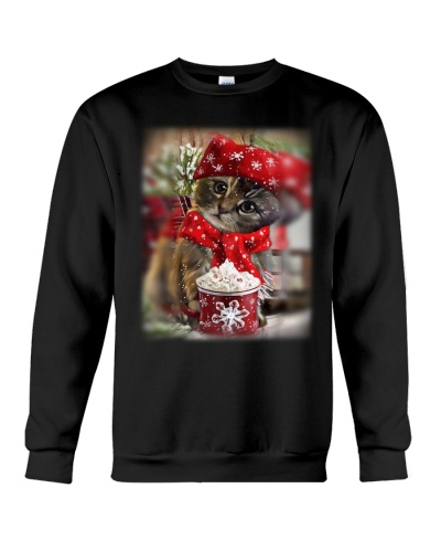 SHN 10 Christmas ice coffee Cat shirt