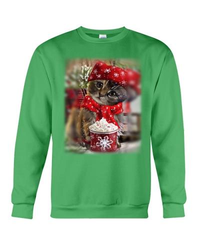 SHN 10 Christmas ice coffee Cat shirt