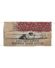 Th 7 Happily ever after a  labrador retriever Cloth face mask front