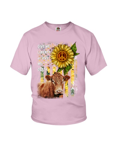 SHN 3 Give me liberty or death Sunflower Cow