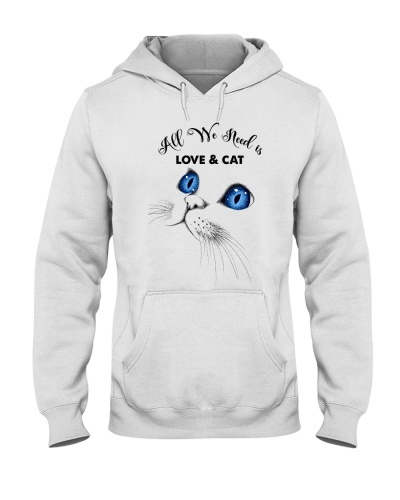 Qhn 7 All We Need Is Love And Cat Hoodie