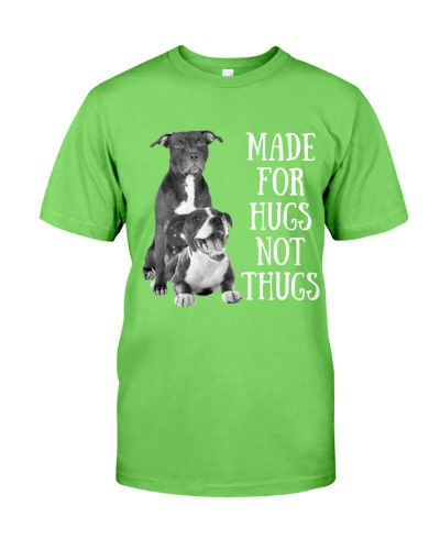 Pitbull made for hugs not thugs