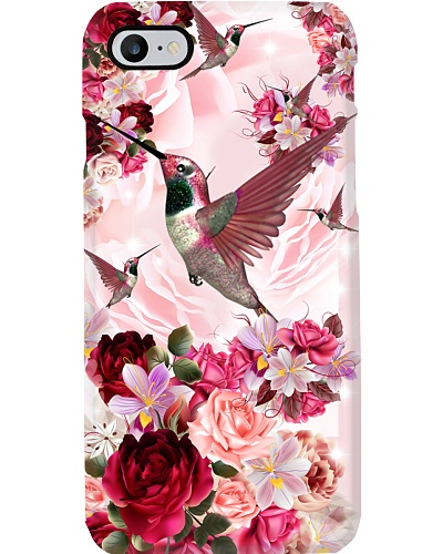 SHN 10 Pink roses Hummingbird phone case