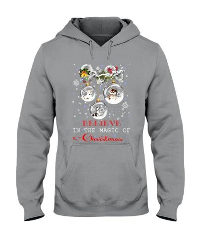 SHN 3 Believe magic Christmas Siberian Husky shirt