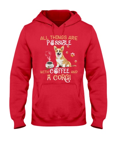 All things are possible with coffee and a Corgi