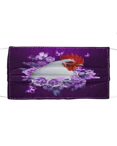 fn 5 chicken purple flowers face
