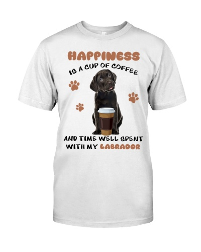 Coffee time well spent Black Labrador Retriever