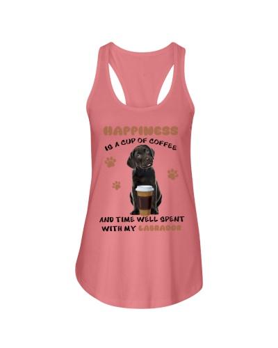 Coffee time well spent Black Labrador Retriever