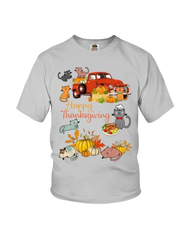 SHN Happy Thanksgiving truck Cat shirt