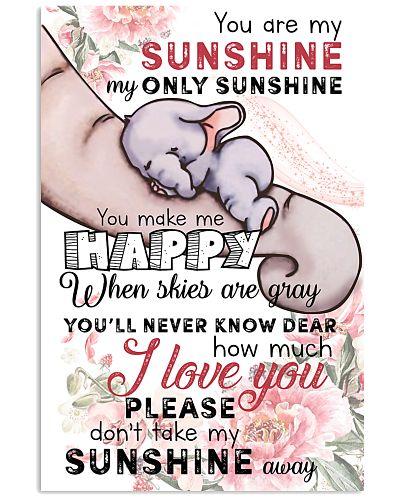 Elephant sunshinne poster