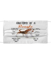 TH 30 Beagle In Anatomy  Cloth face mask front