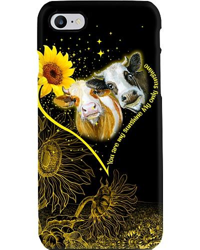 Cow sunshine heart phone case