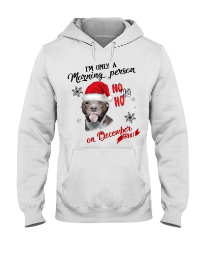 Qhn Im Only A Morning Person Pitbull Hoodie