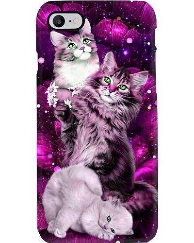 SHN 10 Magic galaxy rose Cat phone case