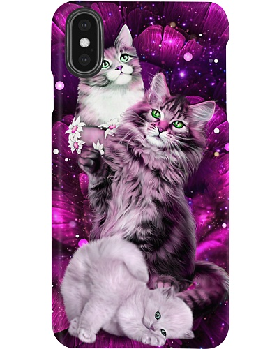 SHN 10 Magic galaxy rose Cat phone case