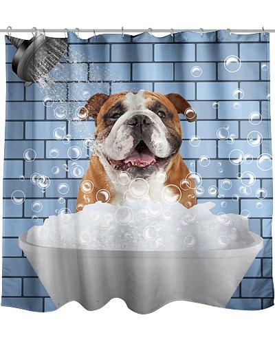 Bulldog love shower curtain