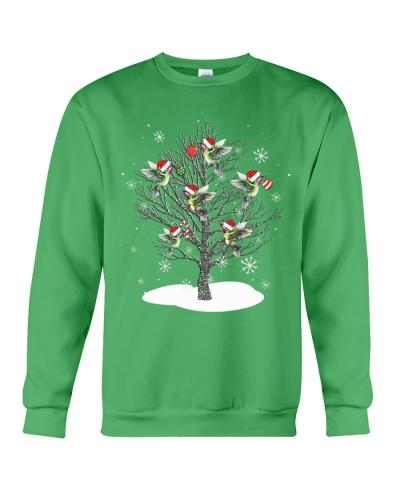 Hummingbird snow tree christmas