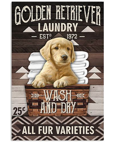 Golden retriever laundry