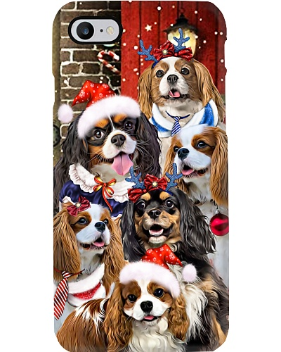 Cavalier king hello christmas phone case11