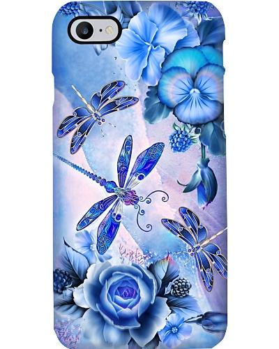 SHN 8 Blue purple rose pansy Dragonfly