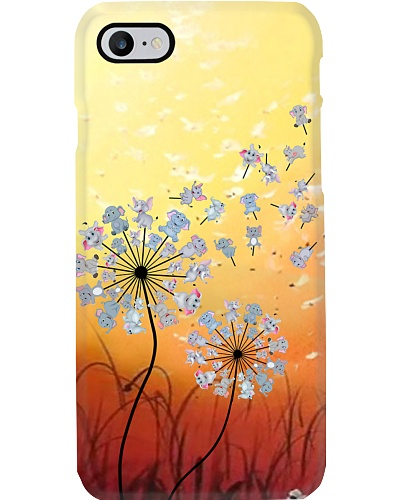 Elephant dandelion phone case