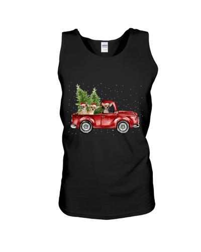 Chihuahua christmas car