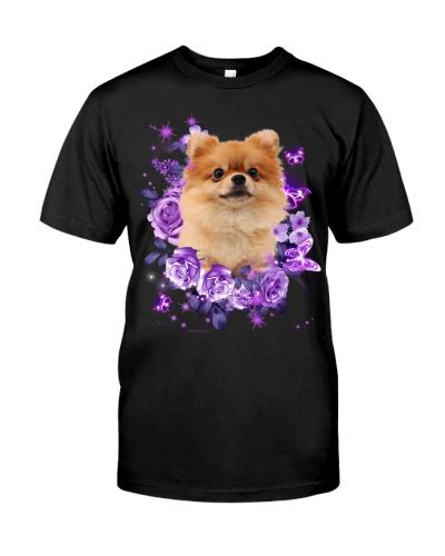 Pomeranian purple flowers