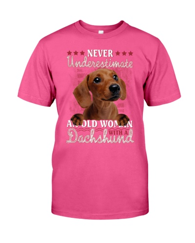 Dachshund never underestimate old woman