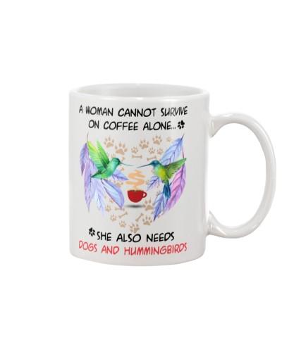 Hummingbirds dogs coffee