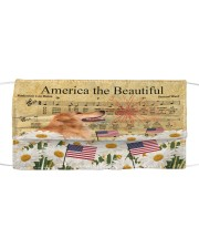 TH 30 Golden Retriever America The Beautiful Cloth face mask front