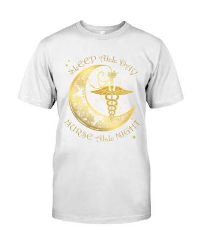 Nurse all night shirt