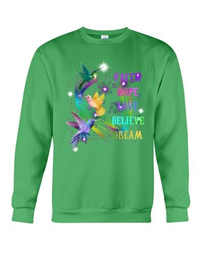 Love believe dream Humming bird