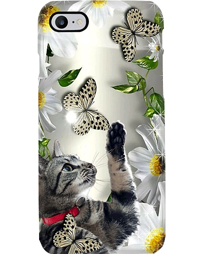 Fn cat daisy and butterfly phone case