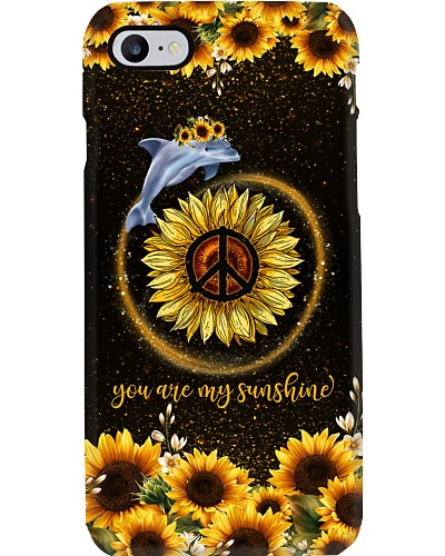 TTN 5 You are my sunshine sunflower Dolphin case