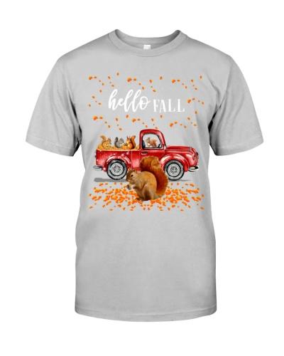 Squirrel hello fall shirt
