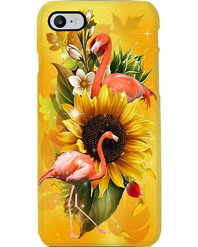 Sunflower With flamingos