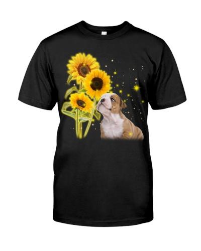Bulldog three sunflower shirt