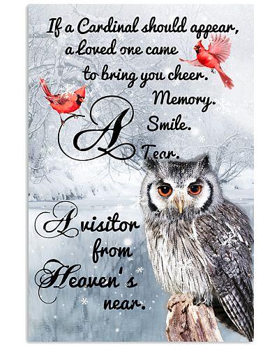 Owl Cardinal Poster
