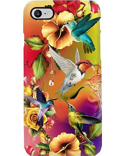 SHN 10 Melting colorful flower back Hummingbird