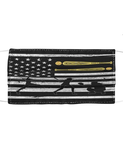 dt 11 softball silhouette on flag cloth 9520