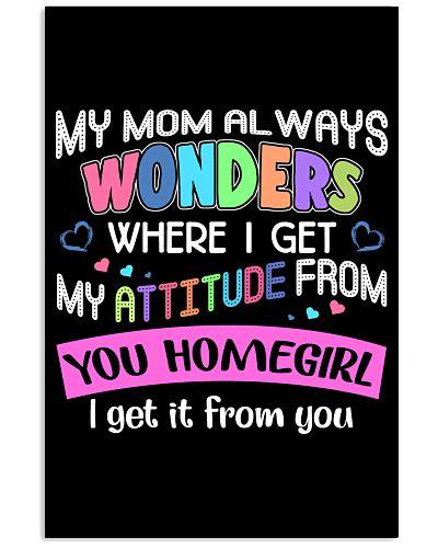 My mom always wonders where i get my attitude from