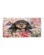 TH 2 Gordon Setter Spring Cloth face mask front