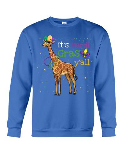 Giraffe it is mardi gras yall