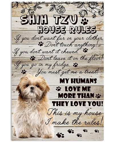 Shih tzu makes the rules poster
